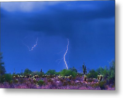 Colorful Desert Storm Metal Print by James BO  Insogna