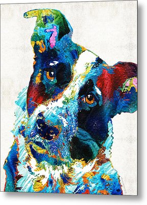 Colorful Dog Art - Irresistible - By Sharon Cummings Metal Print by Sharon Cummings