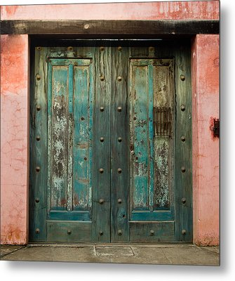 Colorful Doors Antigua Guatemala Metal Print by Douglas Barnett