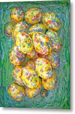 Colorful Eggs Metal Print by Carl Deaville