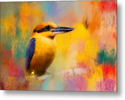 Colorful Expressions Kingfisher Metal Print by Jai Johnson