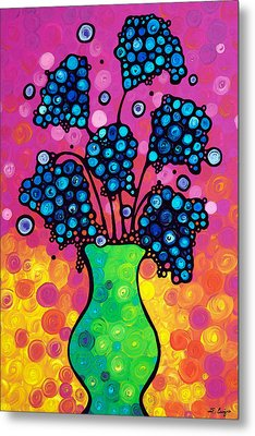 Colorful Flower Bouquet By Sharon Cummings Metal Print by Sharon Cummings
