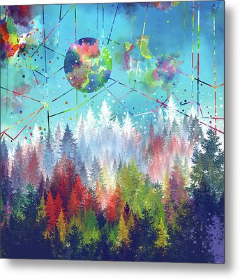 Colorful Forest 4 Metal Print by Bekim Art