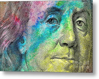 Colorful Franklin Metal Print by Jon Neidert