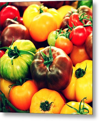 Colorful Harvest Metal Print by Cathie Tyler