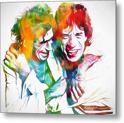 Colorful Mick And Keith Metal Print by Dan Sproul