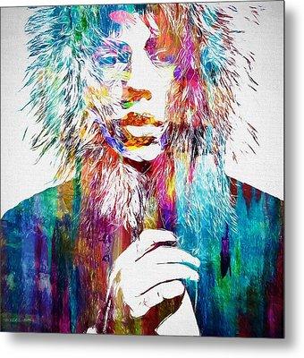 Colorful Mick Jagger Metal Print by Dan Sproul