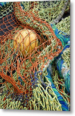 Colorful Nets And Float Metal Print by Carol Leigh