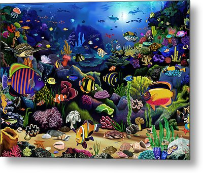 Colorful Reef Metal Print by Gerald Newton