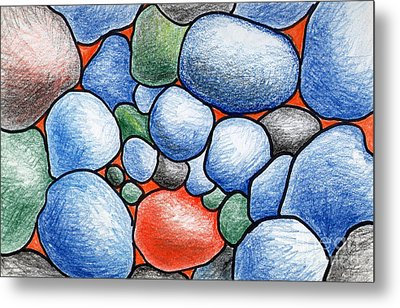 Colorful Rock Abstract Metal Print by Nancy Mueller