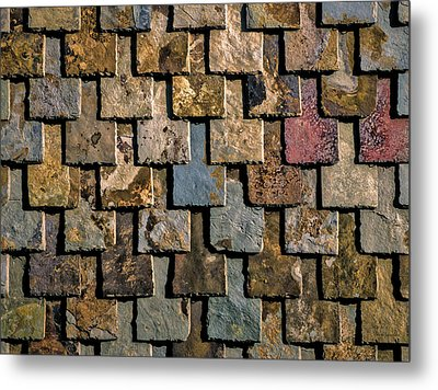Colorful Roof Tiles Metal Print by Wim Lanclus