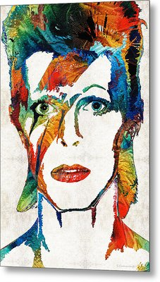 Colorful Star - David Bowie Tribute  Metal Print by Sharon Cummings