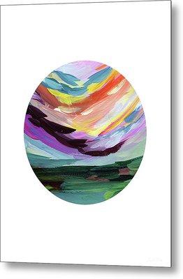 Colorful Uprising 5 Circle- Art By Linda Woods Metal Print by Linda Woods