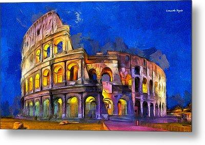 Colosseum - Da Metal Print by Leonardo Digenio