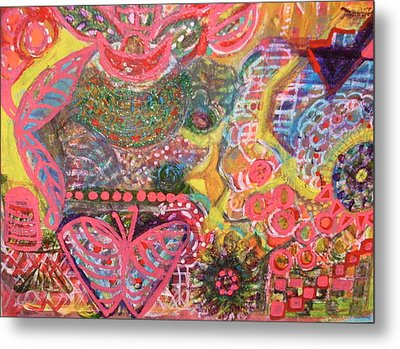 Colours And Shapes Medley Metal Print by Anne-Elizabeth Whiteway