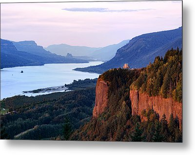 Columbia River Vista House Metal Print by Mary Jo Allen