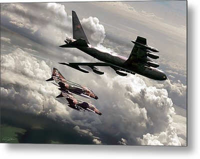 Combat Air Patrol Metal Print by Peter Chilelli
