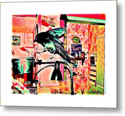 Crow Dance Metal Print by YoMamaBird Rhonda