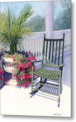 Come Sit A Spell Metal Print by Janet King