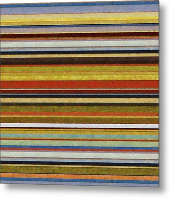 Comfortable Stripes Vl Metal Print by Michelle Calkins