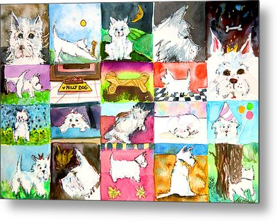 Comical Westie Metal Print by Mindy Newman