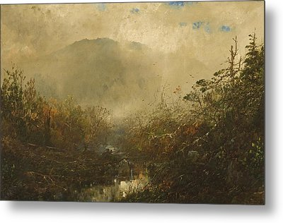 Coming Storm In The Adirondacks Metal Print by William Sonntag
