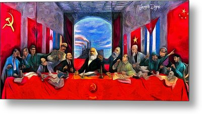 Communist Last Supper Metal Print by Leonardo Digenio