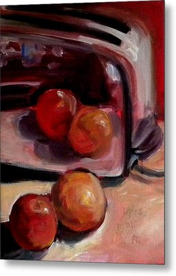 Comparing Apples And Oranges 2 Metal Print by Paula Strother
