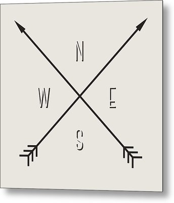 Compass Metal Print by Taylan Apukovska