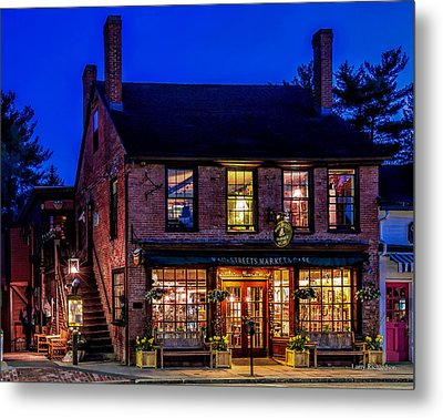 Concord Market And Cafe Metal Print by Larry Richardson