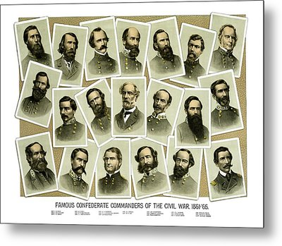 Confederate Commanders Of The Civil War Metal Print by War Is Hell Store