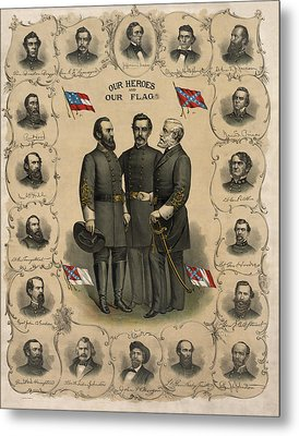 Confederate Generals Of The Civil War Metal Print by War Is Hell Store