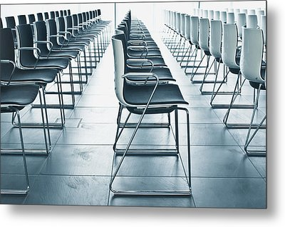 Conference Hall Metal Print by Tom Gowanlock