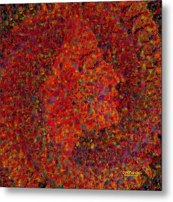 Confetti At Midnight Metal Print by Diane Parnell