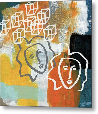 Conflicting Emotions Metal Print by Linda Woods