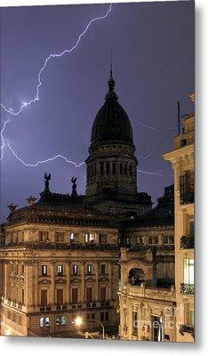 Congreso Lightning Metal Print by Balanced Art