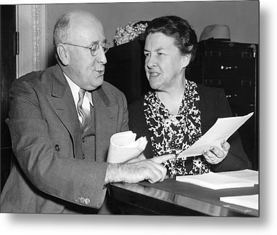 Congressional Conference Metal Print by Underwood Archives