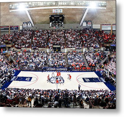 Connecticut Huskies Harry A. Gampel Pavilion Metal Print by Replay Photos