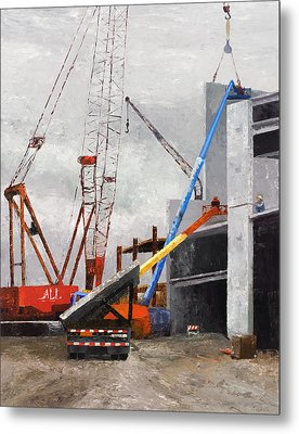Construction Study In Grey Metal Print by Nancy Albrecht