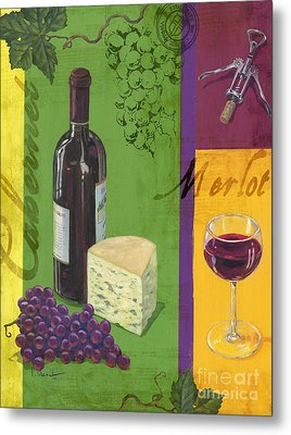 Contemporary Wine Collage I Metal Print by Paul Brent