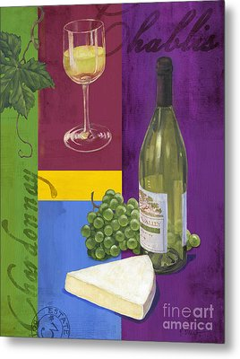 Contemporary Wine Collage II Metal Print by Paul Brent