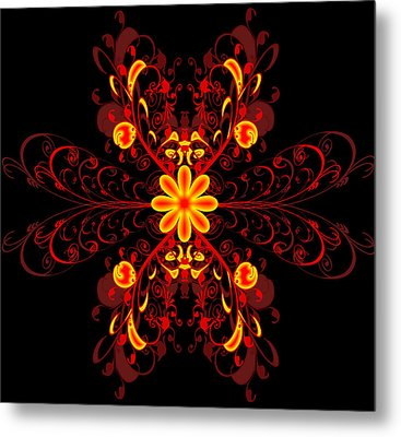 Continental Abstract Metal Print by Svetlana Sewell