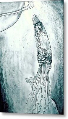 Corn In Space Metal Print by Michelle Calkins