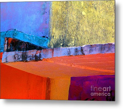 Corner Scroll 2 By Michael Fitzpatrick Metal Print by Mexicolors Art Photography