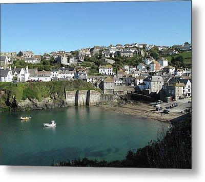 Cornish Fishing Village Of Port Isaac, Cornwall Metal Print by Thepurpledoor