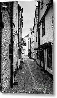 Cornish Street Looe Metal Print by Brian Roscorla