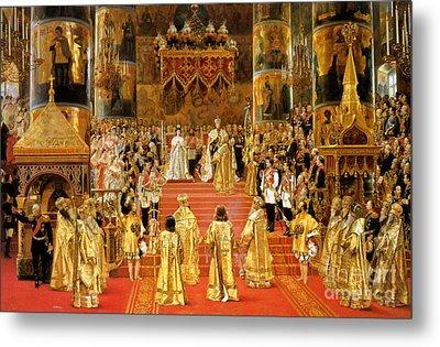 Coronation Of Emperor Alexander IIi Metal Print by Georges Becker