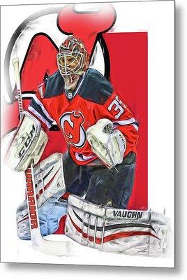 Cory Schneider New Jersey Devils Oil Art Metal Print by Joe Hamilton