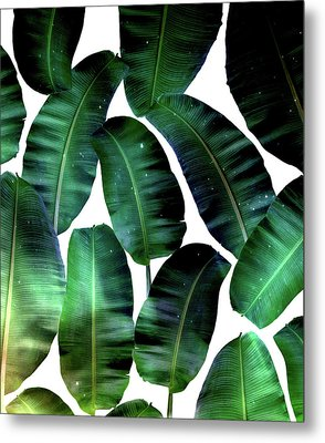 Cosmic Banana Leaves Metal Print by Uma Gokhale