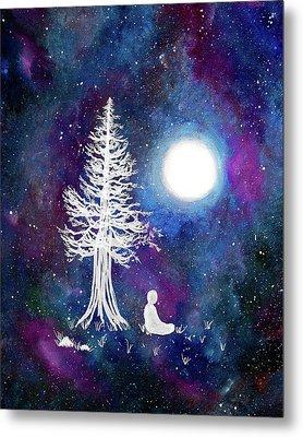 Cosmic Buddha Meditation Metal Print by Laura Iverson